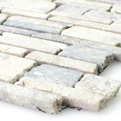 Marmor Brick Mosaik Fliesen Uni Grey