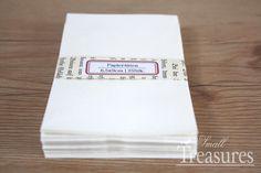 ♥ 50 Papiertüten weiß, 6,5x9cm ♥