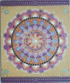lila-bézs-arany Napmandala , Nap, Spirál szimbólumokkal / purple-beige-gold Sunmandala, Sun, Spiral symbols