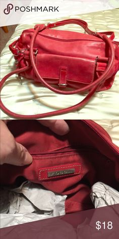 Red leather Fossil bag. True red soft leather gently used. Medium size. Fossil Bags Satchels