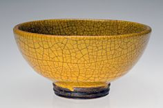"""Finally, the Bowl Gets Its Due - NYTimes.com """"Untitled Yellow Crackle Bowl"""" by Glen Lukens (c. 1939)"""