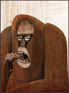 Apes and Monkeys by Sukanto Debnath, via Behance