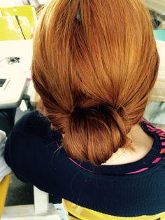 Coque em cabelo ruivo. #BadHairDay #HairByLessa