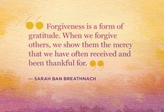 What a beautiful way to think about forgiveness, and get rid of self destructive resentments in the process.  Wonderful!