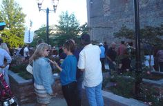 Many locals choose to gather near James Allen Plaza to enjoy some food by the booths #florenceunlocked