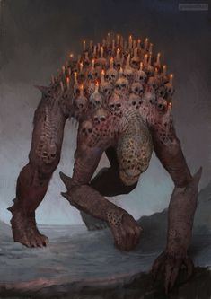 Beautiful Science Fiction, Fantasy and Horror art from all over the world. Monster Art, Monster Concept Art, Fantasy Monster, Monster Design, Fantasy Demon, Fantasy Beasts, Dark Fantasy Art, Fantasy Artwork, Demon Artwork