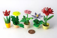 Inna's Creations: Miniature flower pots
