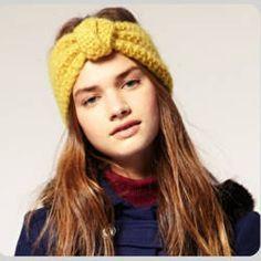 Crochet head band ear warmer twist