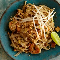 Food & Wine Pad Thai - This homemade version of a Thai takeout standby is incredibly flavorful thanks to tangy fish sauce, sweet-and-sour tamarind, tart vinegar and rich palm sugar.