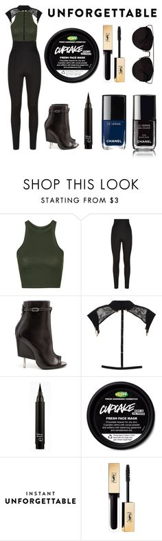 """""""More Black"""" by alexis-lisa-aswani on Polyvore featuring Topshop, Balmain, Givenchy, Tatu Couture, Chanel and Yves Saint Laurent"""