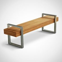 """Could work nicely in the office area, which will have modern vintage industrial style. The Industrial Styled """"Return Bench"""" from Gus* Modern - Furniture Fashion. Furniture Ads, Bench Furniture, Steel Furniture, Design Furniture, Upcycled Furniture, Cheap Furniture, Modern Furniture, Outdoor Furniture, Furniture Stores"""