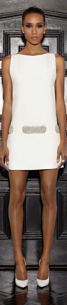 Lorena Sarbu 2015 Resort Collection - short white color dress