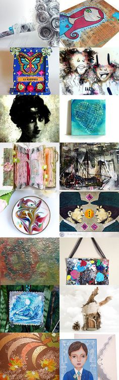 Mixed Media Monday #38 curated by Carla of CarlasCraft on etsy.com