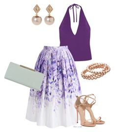 A fashion look from July 2017 featuring neck ties, pleated skirt and high heels sandals. Browse and shop related looks. Gareth Pugh, Ivanka Trump, Giuseppe Zanotti, Ted Baker, Fantasy, Shoe Bag, Clothes For Women, Polyvore, Closet