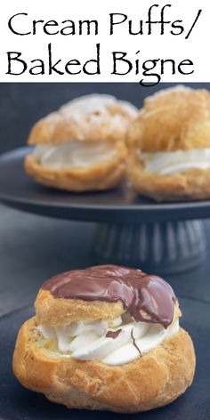 Baked Bignè, Cream Puffs or Even Profiterole these choux pastry baked pastries are delicious. Filled with a sweetened whipped cream or even a simple Italian Pastry Cream either way they make the perfect dessert or St. Joseph's day treat! Best Pastry Recipe, Puff Pastry Recipes, Breakfast Pastries, Sweet Pastries, Profiterole, Sweetened Whipped Cream, Choux Pastry, St Joseph, Cravings