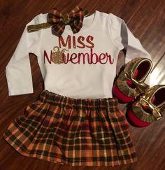 Miss November shirt//Fall birthday shirt//Thanksgiving girl shirt//1st First 2nd 3rd 4th 5th Birthday Girl Outfit//Fall birthday outfit by ClairesCreations15 on Etsy https://www.etsy.com/listing/468991544/miss-november-shirtfall-birthday