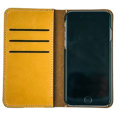 $69.99 Buckskin Folio with Cream Stitch for iPhone 6/6S Plus.  Each and every iPhone deserves an iGear folio case of this quality. The Buckskin Folio Case with Cream Stitching is hand crafted to age and gain character over time. Not fall apart. It features hand style stitching and is and made with Top Grade Genuine Leather. The front flap features 3 credit card inserts so you can use your case as your wallet as well. This case will fit the iPhone 6 and iPhone 6s Plus