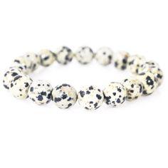 Dalmatia Jasper Unisex Stretch Bracelets  #handmade #handmadejewelry #unisexjewelry #beadedjewelry #handmadegift #instafashion