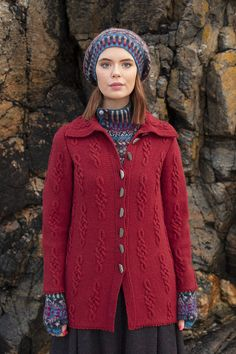 Graceknot cardigan and Marina hat set patterncard knitwear designs by Alice Starmore in pure wool Hebridean 2 & 3 Ply hand knitting yarn Knitting Designs, Knitting Ideas, Knitting Patterns, Recent Movies, Doodle Designs, Card Patterns, Knitting For Beginners, Celtic Knot, Hand Knitting