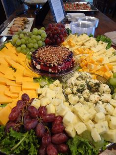 artisan cheese displays | Gourmet Fruit and Cheese Display – CATERING BY DEBBI COVINGTON www ...
