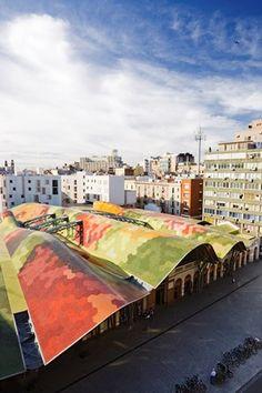 Rehabilitación en el Mercado de Santa Caterina Barcelona 1999