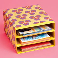 Cereal box organizer - LOVE IT... I could use several of these in the craft room and even my classroom.