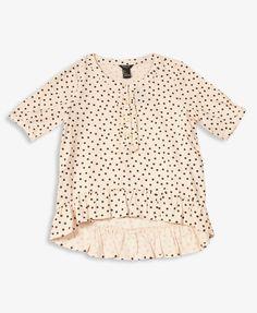 Ruffled Polka Dot Top | FOREVER21 girls - 2019572044