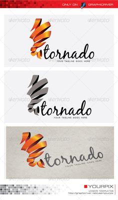 Tornado Logo - Nature Logo Templates
