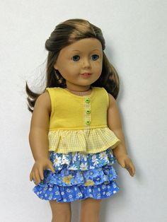 American Girl doll clothes dress 18 inch doll clothes by Grandma Lu
