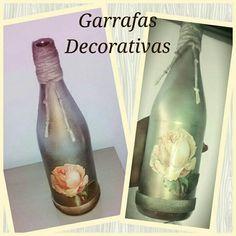 Garrafas Decorativas!!! #reciclagem