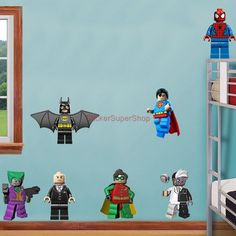 D Lego Batman Wall Decal Great For The Kids Room By ArtogText On - Lego superhero wall decals