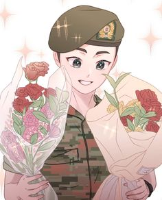 <credits to owner> Kpop Exo, Exo Xiumin, Kpop Fanart, Exo Anime, Anime Art, Exo Cartoon, Chibi, Anime Korea, Love Cartoon Couple