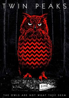 """The owls are not what they seem."" art by David Lynch Twin Peaks, Dylan Dog, Plakat Design, Between Two Worlds, Beautiful Posters, Minimalist Poster, Illustrations And Posters, Comic Art, Graffiti"