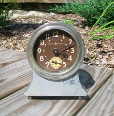Antique Rare Pat 1920 General Electric Heavy Duty Wind up Clock 2364