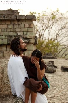 """The Lord replied, """"My precious, precious child, I love you and I would never, never leave you during your times of trial and suffering. """"When you saw only one set of footprints, it was then that I carried you."""""""