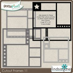 Cutout Frames 11 :: Gotta Pixel Digital Scrapbook Store by Lindsay Jane $2.00