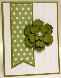 Handmade card using pieces of the Sale-a-Bration Heartfelt Banner Designer Kit from Stampin' Up!  You can get this Kit free until 3-31-2014 with a $50 order (before s/h & tax).