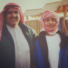 Hamdan RSM y su hijo Maktoum HRM