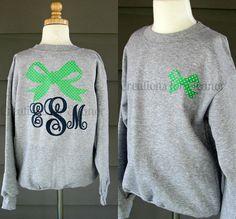 Children's Monogrammed Sweatshirt by creationsforeleanor on Etsy