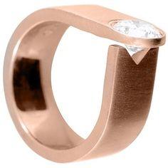 Contemporary Diamond Ring, top view
