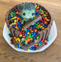 Our Version Of A Hulk Birthday Cake For 9 Year Old Boy He Loved