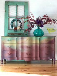 French provincial dresser painted with Dixie Belle Paint , painted furniture, ideas, home decor ideas by Tanglewood Works Funky Furniture, Refurbished Furniture, Paint Furniture, Repurposed Furniture, Shabby Chic Furniture, Furniture Projects, Furniture Making, Furniture Makeover, Vintage Furniture