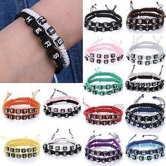 8c44832cda0 2 Pcs Couple Infinity Braided Wristband Bracelet Lovers Bangle Friendship  Gift   Bracelets   Costume Jewellery