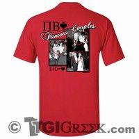 TGI Greek Tshirts - Pi Beta Phi - Famous Couples - Crush - Valentines
