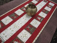 Quilted Table Runner Celebrate ChristmassXmaaTable