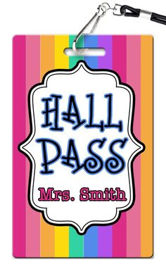 Stripes Theme Hall Passes (Set of 10)