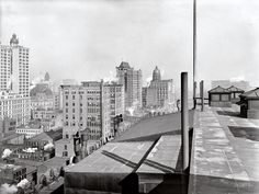 New York's business district from the Woodbridge building circa 1900.