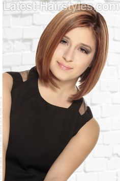 Short Hairstyle with Beveled Ends #prom hairstyles