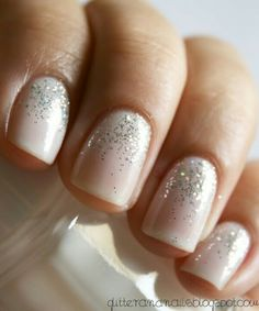 A great way to add subtle glamour to your nails! :)