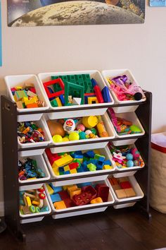 Get holiday clutter contained with these simple toy storage ideas from Design Improvised